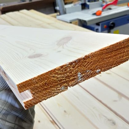 Exterior pine solid wood boards