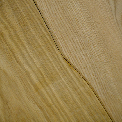Curvilinear wood flooring